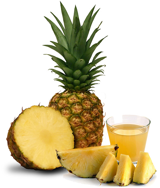 Pineapple bromelain proteolytic enzymes