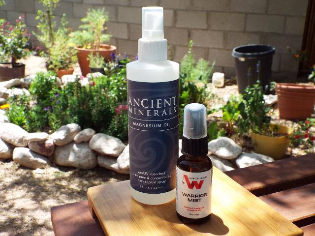 Warrior Mist Magnesium oil bottles