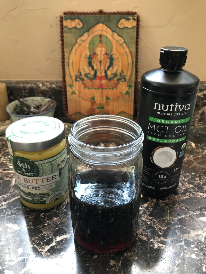 keto coffee ingredients MCT oil ghee