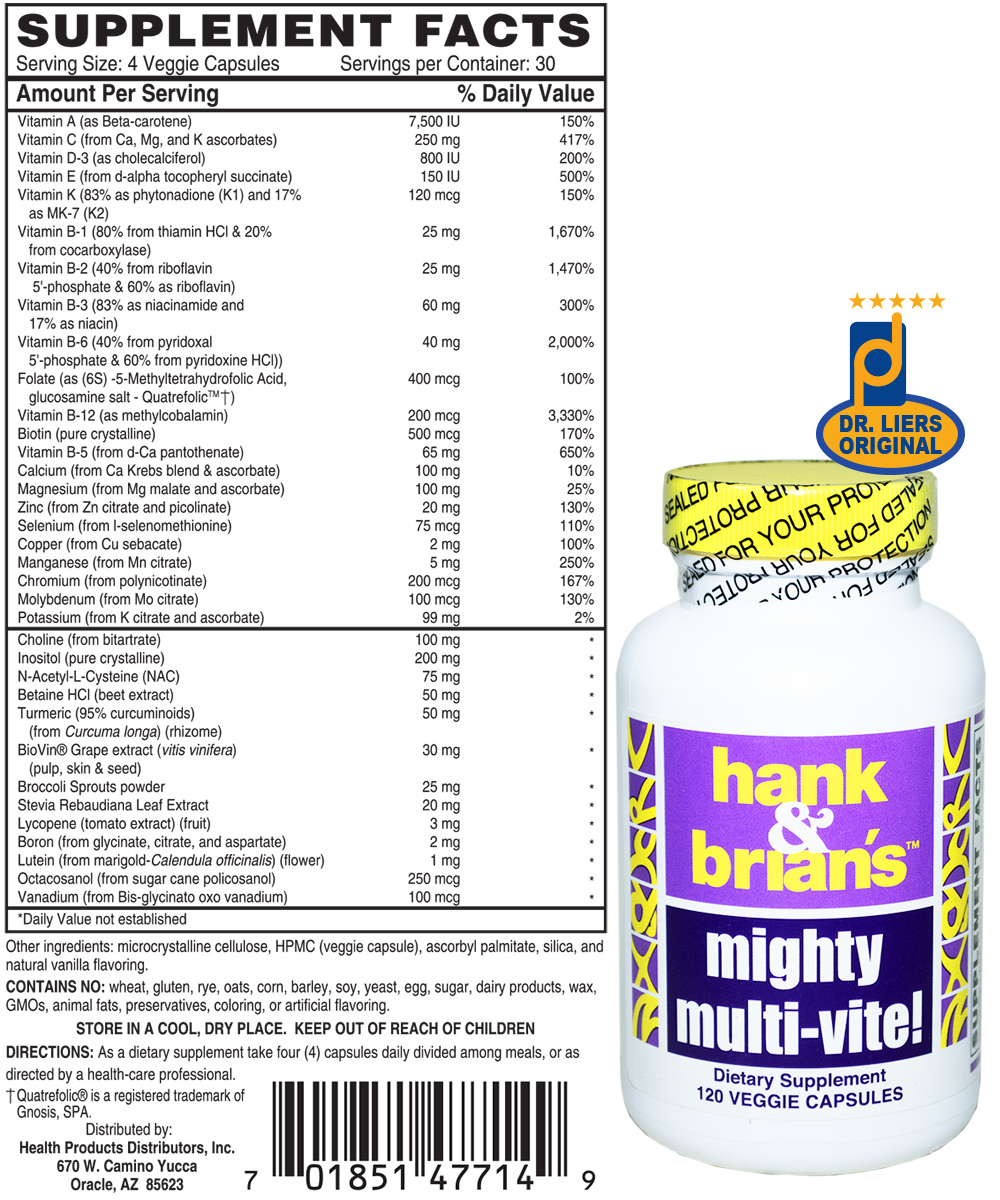 Hank & Brian's Mighty Multi-Vite multivitamin methylation cycle