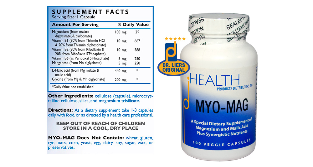 MYO-MAG with 100 mg magnesium per serving key B vitamins methylation cycle