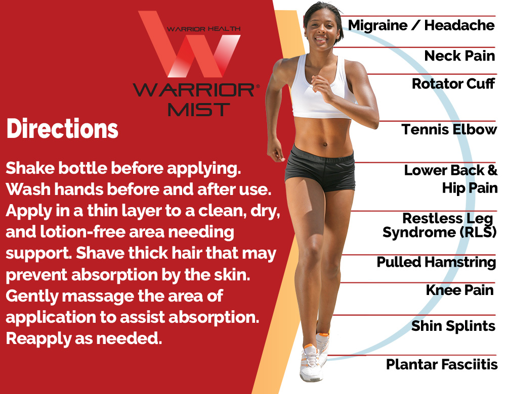 Warrior Mist topical pain formula